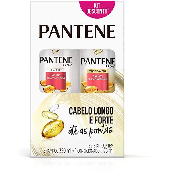 Kit PANTENE Shampoo e Condicionador Cachos 350ml e 175ml