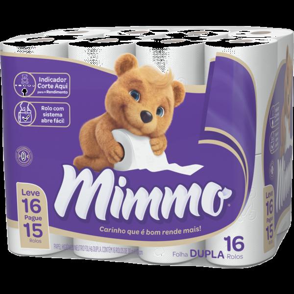 Papel Higienico Mimmo Folha Dupla 30Mx10Cm Lv.16 Pg.15