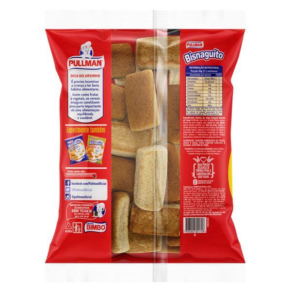 Pão Bisnaguinha Integral Zero Lactose Pullman Bisnaguito Pacote 300g