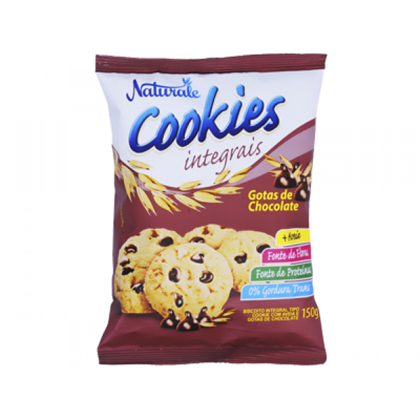 Cookie Integral com gotas de chocolate Naturale