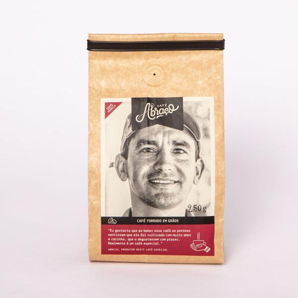Café produtor Márcio, Torrado em Grãos 250g - Café Abraço