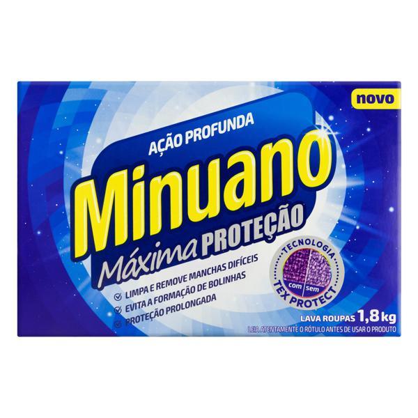 Lava-Roupas em Pó Minuano Ação Profunda Máxima Proteção Caixa 1,8kg