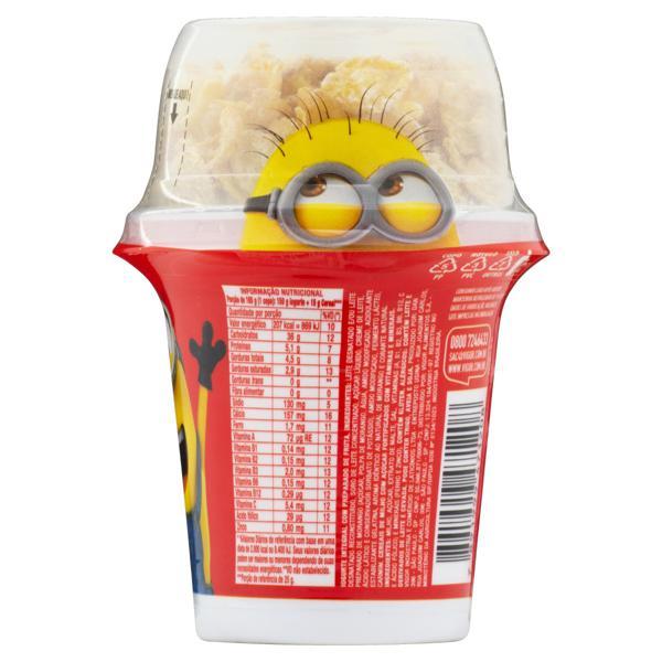 Iogurte Integral Morango e Cereais Meu Malvado Favorito 3 Vigor Mix Pote 165g