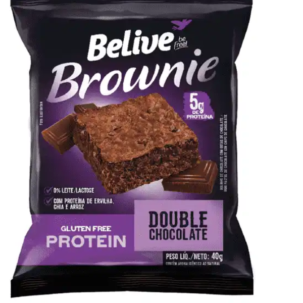 Brownie Proteina Doub Chocolate Sem Lactose Belive 40G