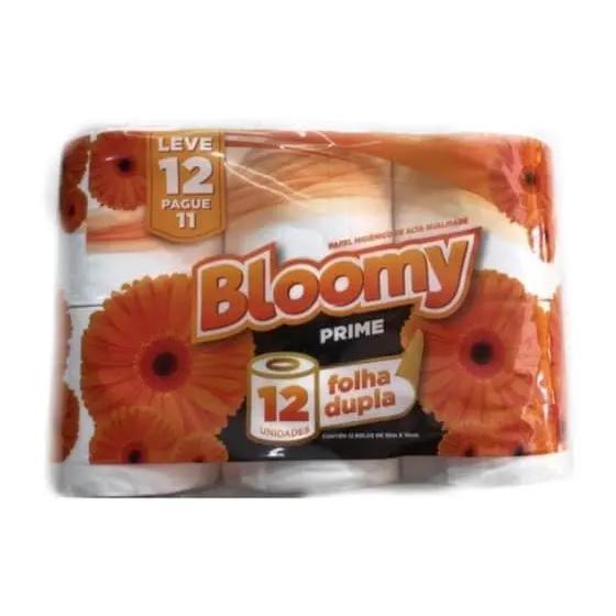Papel Higienico Bloomy Folha Dupla C/12Rls 30M