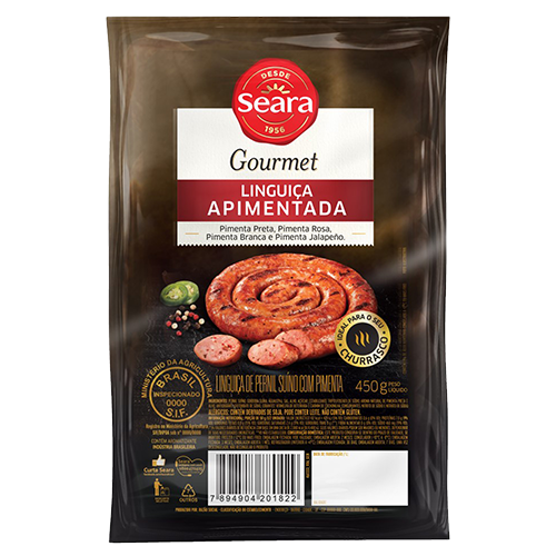 Linguica Pernil 500G Seara Gourmet Apimentada
