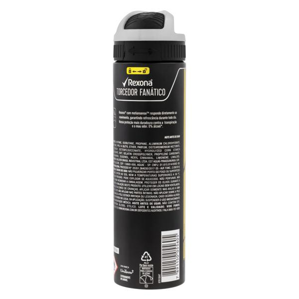 Antitranspirante Aerossol Rexona Men Motionsense 150ml Torcedor Fanático