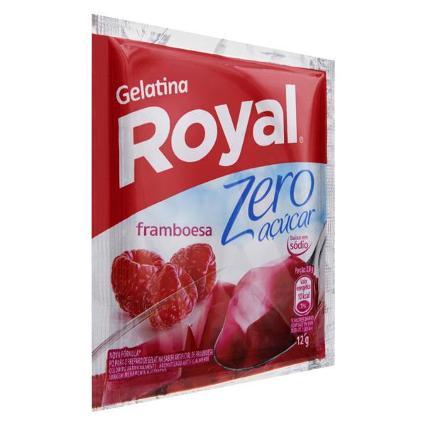 Gelatina em Pó Framboesa Zero Açúcar Royal Pacote 12g