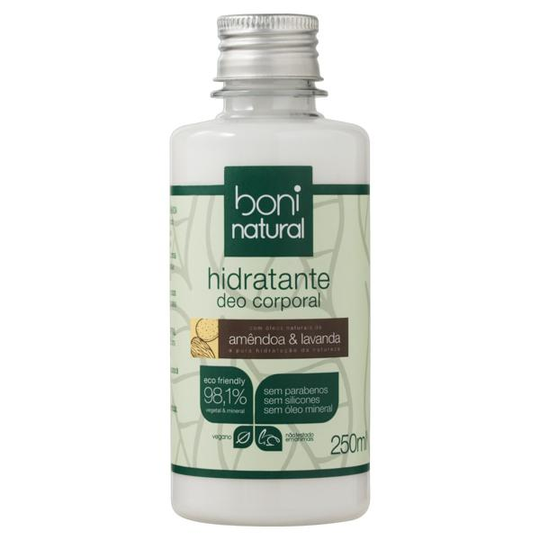 Hidratante Deo Corporal Amêndoa & Lavanda Boni Natural Frasco 250ml