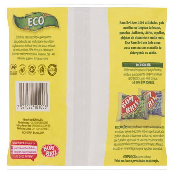 Esponja Aço Bom Bril Eco Pacote 60g 8 Unidades