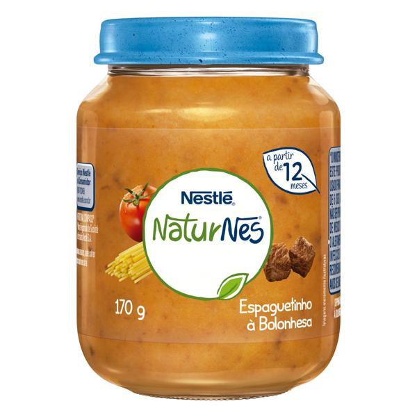 Sopinha Espaguetinho à Bolonhesa Nestlé Naturnes Vidro 170g