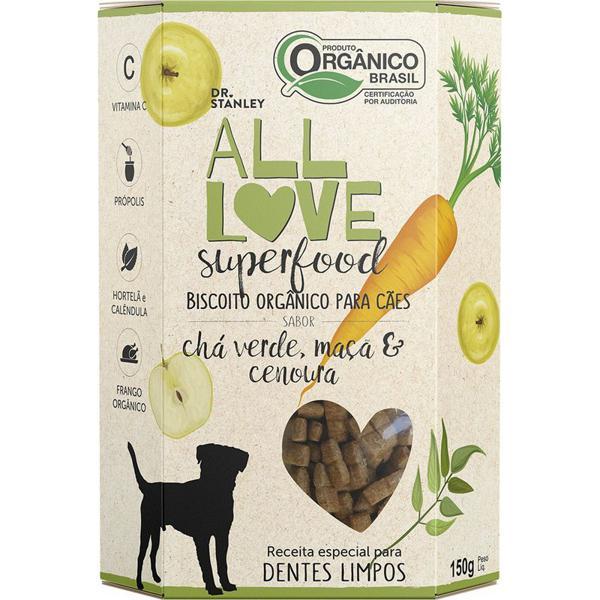Biscoito Orgânico Superfood Para Cães  Chá Verde, Maçã & Cenoura 150g - Dr. Stanley