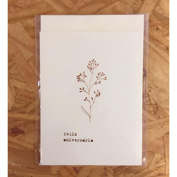 Cartão Feliz Aniversário - Anna Cunha