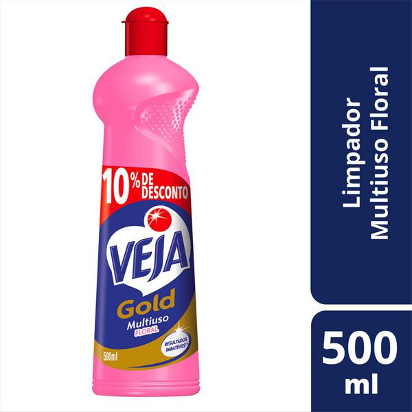 Limpador Multiuso Floral Veja Gold Squeeze 500ml Grátis 10% de Desconto