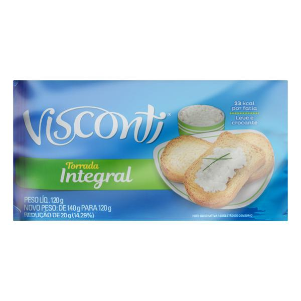 Torrada Integral Visconti Pacote 120g