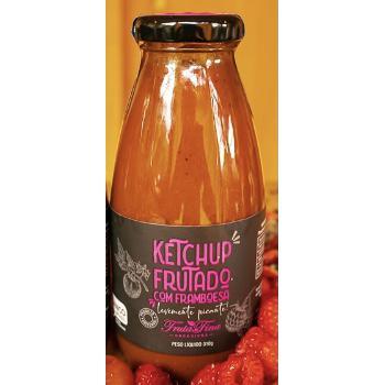 Ketchup Frutado de framboesa levemente picante ( 310 g)- Orgânico