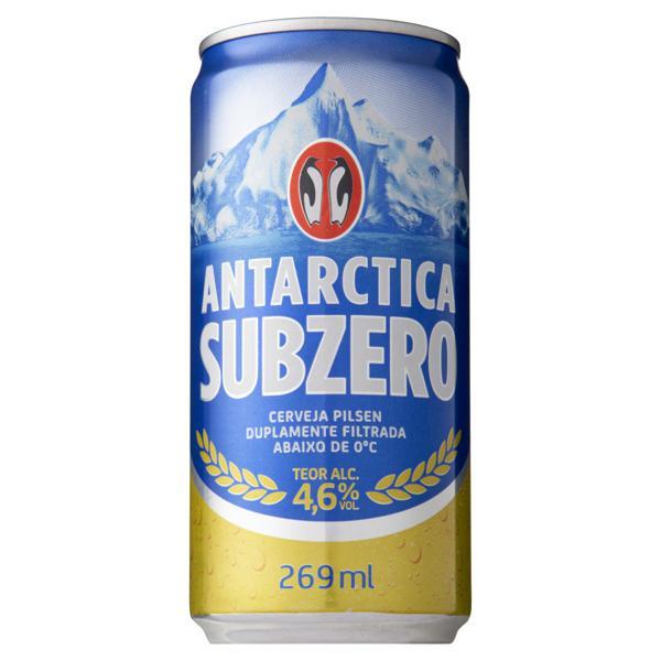 Cerveja Pilsen Antarctica Sub Zero Lata 269ml
