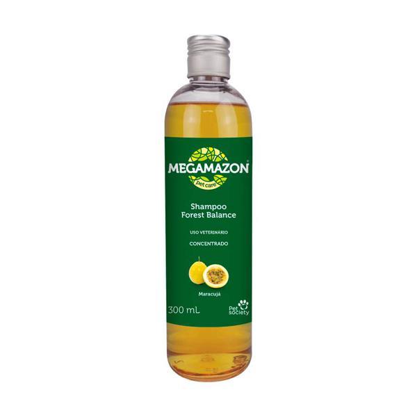 Shampoo Megamazon Forest Balance Maracujá para Cães e Gatos 300ml
