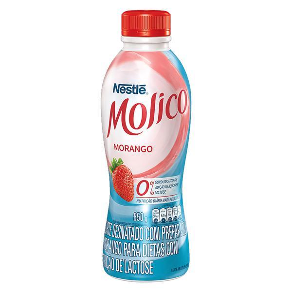 Iogurte Desnatado Morango Zero Lactose Nestlé Molico Garrafa 850g