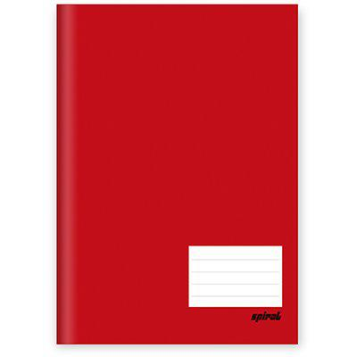Caderno Brochura TILIBRA Vermelho 96 folhas Costurado Capa Dura