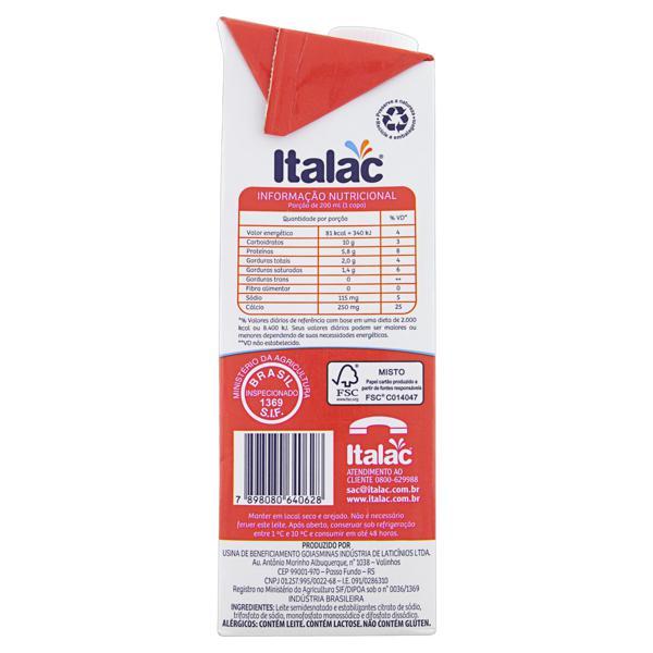 Leite UHT Semidesnatado Italac Caixa 1l