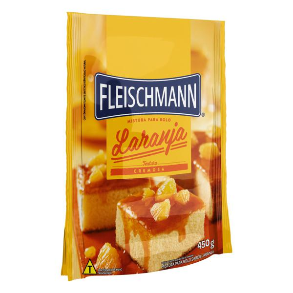 Mistura para Bolo Cremoso Laranja Fleischmann Sachê 450g