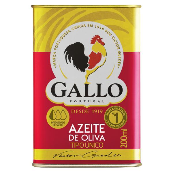 Azeite de Oliva Tipo Único Português Gallo Lata 200ml