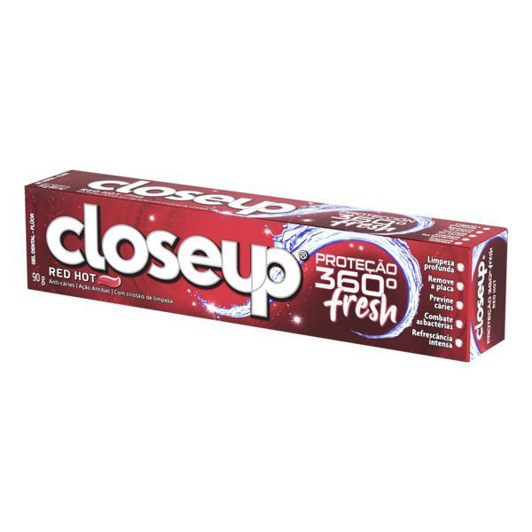 Gel Dental Red Hot Closeup Proteção 360° Fresh Caixa 90g