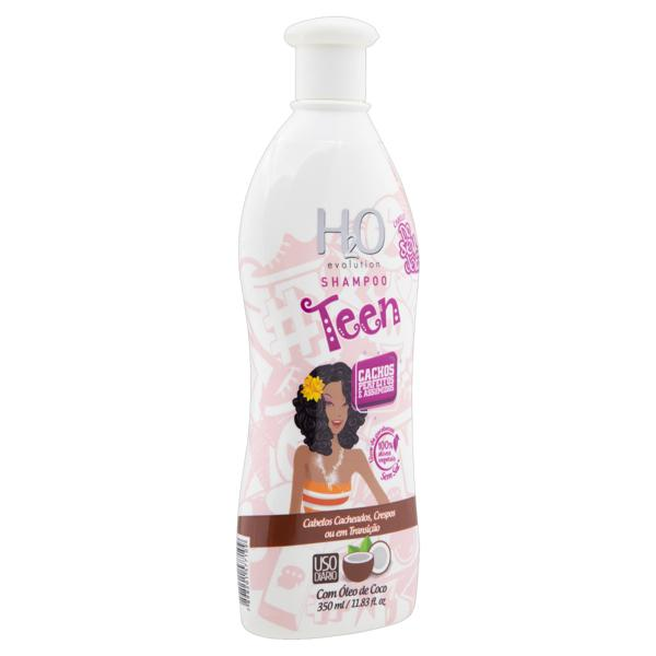 Shampoo H2O Evolution Teen Cachos Perfeitos e Assumidos Frasco 350ml