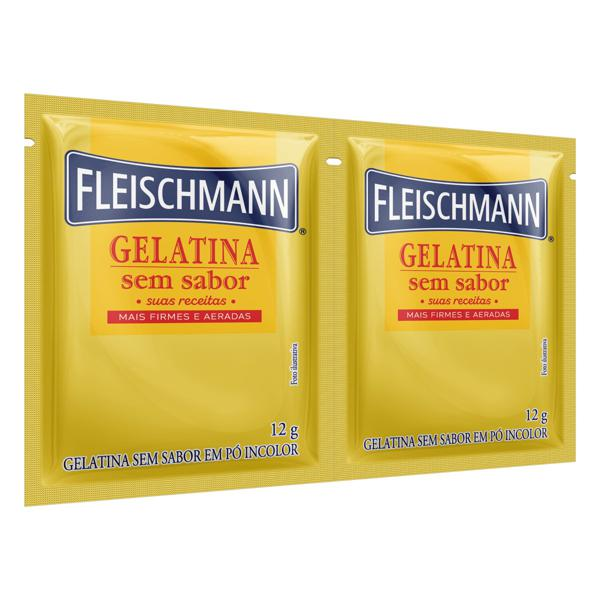 Gelatina em Pó sem Sabor Fleischmann Pacote 24g 2 Unidades