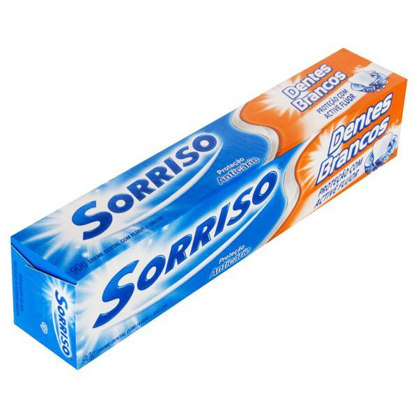Creme Dental Sorriso Dentes Brancos Caixa 90g