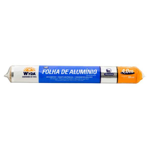 Folha de Alumínio em Rolo Wyda 30cm x 4,0m