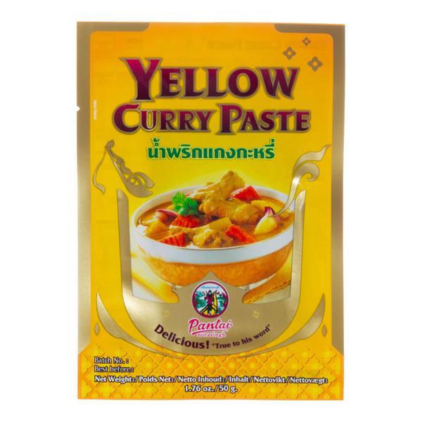 Pasta de Curry Amarelo PANTAI Pacote 50g