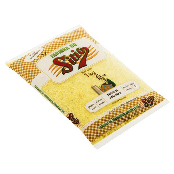 Farinha de Mandioca Tipo 1 Amarela Sítio Pacote 1kg