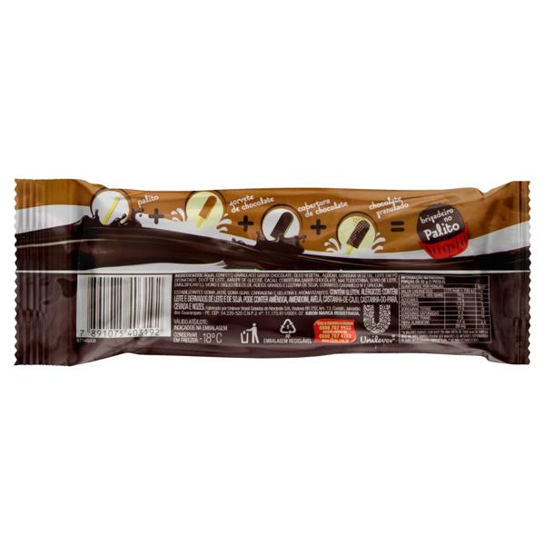 Picolé Brigadeiro Cobertura Chocolate Kibon Pacote 52g