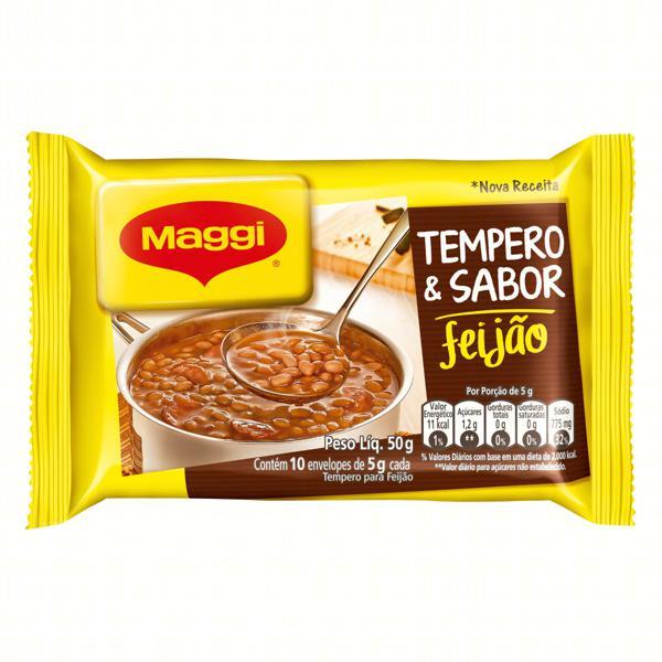Tempero para Feijão Maggi Tempero & Sabor Pacote 50g 10 Unidades
