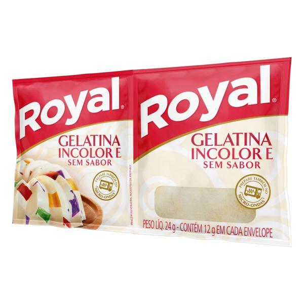 Gelatina em Pó sem Sabor Royal Pacote 24g 2 Unidades