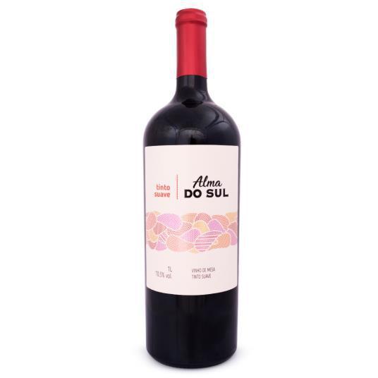 Vinho ALMA DO SUL Tinto Suave de Mesa 1L