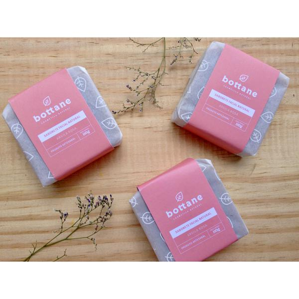 Sabonete facial de argila rosa - Bottane