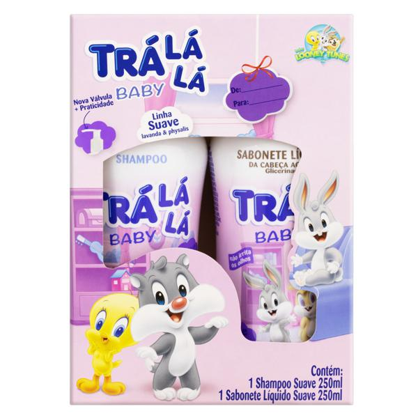 Kit Shampoo + Sabonete Líquido Looney Tunes Trá Lá Lá Baby Suave 250ml Cada