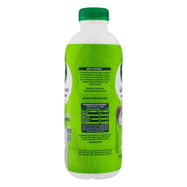 Bebida à Base de Leite de Coco Zero Lactose Copra Garrafa 900ml