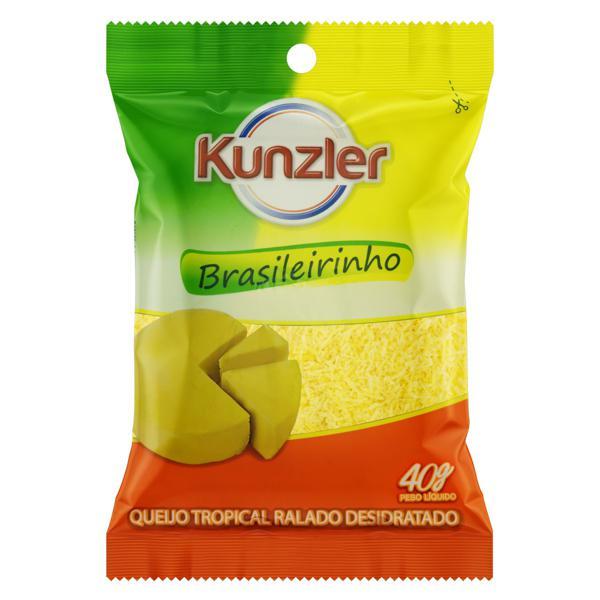 Queijo Tropical Ralado Kunzler Brasileirinho Pacote 40g