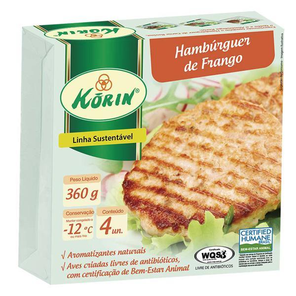 Hambúrguer de frango sustentável com 4 un - 360g - Korin