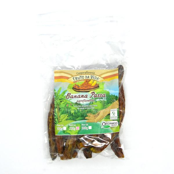 Banana passa orgânica 200g - Cooperafloresta