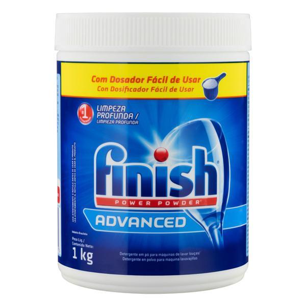 Detergente em Pó para Máquina de Lavar Louças Finish Power Powder Advanced Pote 1kg