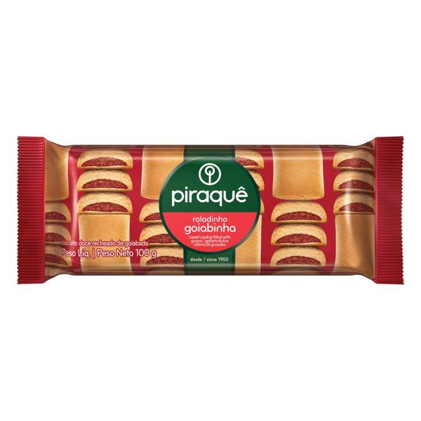 Biscoito Roladinho Recheio Goiabinha Piraquê Pacote 100g
