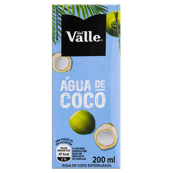 Água de Coco Esterilizada Del Valle Caixa 200ml