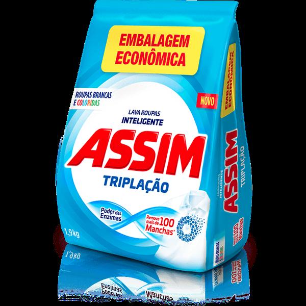 Sabão em Pó ASSIM Triplaçao 900g