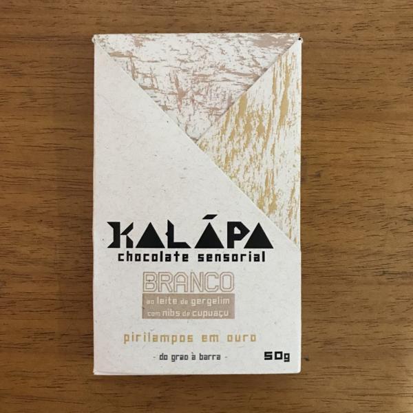Barra de chocolate branco com Nibs de Cupuaçu 50g - Kalapa