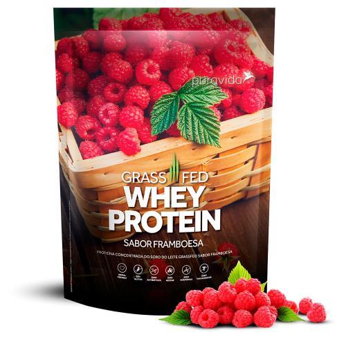 Whey Protein Grassfed Framboesa 450g - Puravida